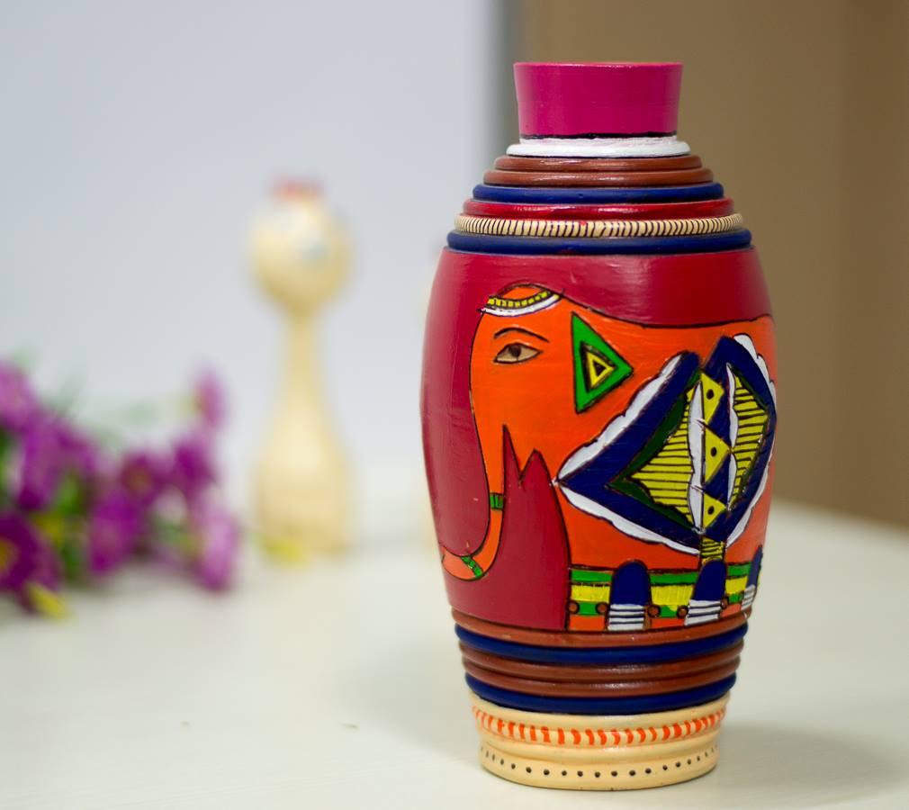 Handpainted vase